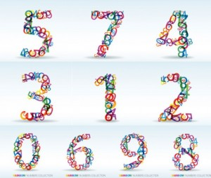 vector numbers of digits 15 10826 300x253 Numeros en Ruso de 100 a 1000